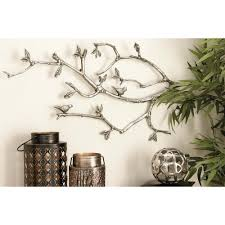 whitewashed aluminum tree branch wall decor 70955 the home depot