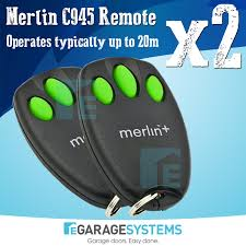 included in this listing 2 x brand new merlin c945 remote