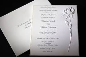 Black And White Invitation Paper The Embossed Rose