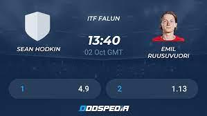Sean Hodkin - Emil Ruusuvuori » Live Score & Stream + Odds, Stats, News