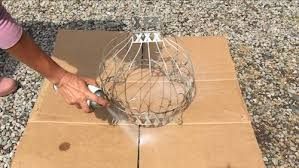 diy outdoor chandelier 2 this old wire hanging basket