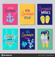 Summer Gift Tags Summer Lettering Card Hand Drawn Gift Tags Banners And