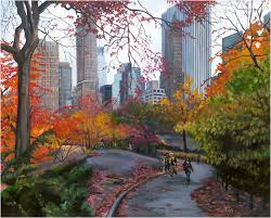 paintings from new york central park stroll