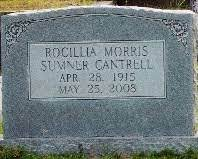 Rocillia Maranda Morris Cantrell (1915-2008) - Find A Grave Memorial