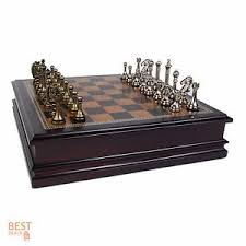 Classic Wooden Board Games Chess Table Set Antique Classic Board Game Wooden Storage Box 62
