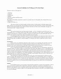 Apa Format Essay Template Unique 45 Essay In Apa Format Example Apa