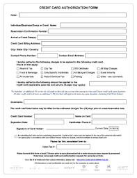 Credit Card Release Form Credit Card Authorization Form Fill Out And Sign Printable Pdf