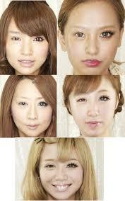 gyaru makeup half on off styleshots