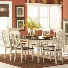 ohana 7 piece rectangle dining table set cherry white