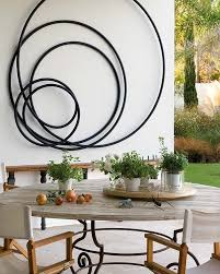 metalic outdoor wall decor