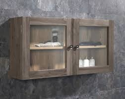 solid oak glass 750mm bathroom