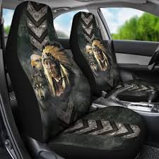 native american indian eagle wolf spirit animals car seat cover familyloves com