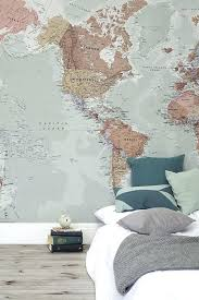 classic world map wallpaper wall mural world map wall murals uk best world map wallpaper images