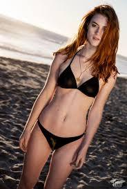 Model redhead sexy shoot