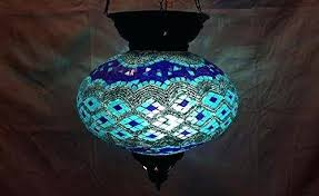 blue chandelier light blue lantern mosaic hanging lamp glass chandelier light candle holder m cobalt blue