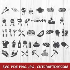 These svg images were created by modifying the images of pixabay. Bbq Svg Bbq Svg Bundle Picnic Svg Png Pdf Jpg Cut Files