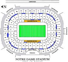 Notre Dame Football 2019 Seating Chart Inside The Stadium