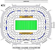 University Of Notre Dame Football Stadium Seating Chart Inside The Stadium
