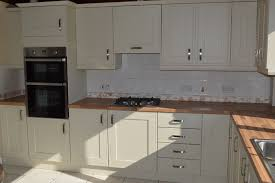 kitchen replacement doors makeover with oak block worktops