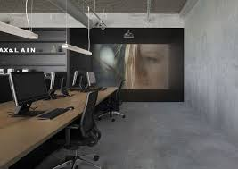 Open Concept Office Design Simple Bold Industrial Office Design For Media Agency Freshome
