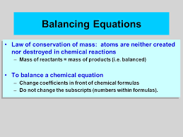 8 balancing equations