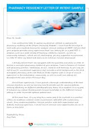 letter of recommendation for residency pharmacy letter of intent sample pharmacy residency