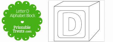 free printable letter d alphabet block template