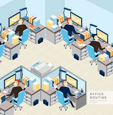 Cartoon Office Cartoon Business Office Room Design Vector Graphics My Free