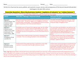 Sample History Lab Answer Key With Rubric