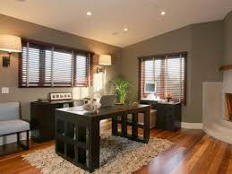 home office designs wooden. Amazing Design Of The Home Office With Brown Wooden Floor Added Grey Wall Ideas Designs