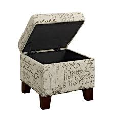 Living Room Ottoman With Storage Amazoncom Dorel Living Script Cube Ottoman With Storage Kitchen
