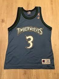 Vtg Champion Stephon Marbury Jersey Minnesota Timberwolves 3
