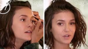 nina dobrev does red carpet makeup challenge