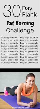 21 Day Plank Challenge Chart Lose Weight With The 30 Day Plank Fat Burning Challenge