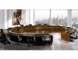 wooden meeting table times square round meeting table by jose martinez medina
