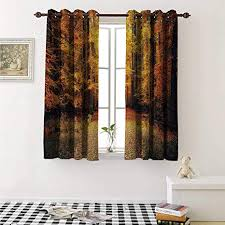 Windows Fall Theme Amazon Com Flyerer Forest Customized Curtains Magical Fall