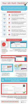 infographic your job hunt checklist infographic your job hunt checklist