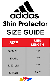 Adidas Shin Guard Size Chart Best Picture Of Chart