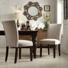 walker edison furniture pany eames style grey dining leather parson dining room kitchen chairs low back fabric parsons
