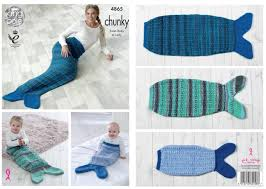Mermaid Tail Blanket Knitting Pattern Unique King Cole 48 Knitting Pattern Baby Child Adult Mermaid Tail