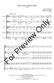 since you been gone sheet music since youve been gone satbb by anders ed j w pepper sheet music
