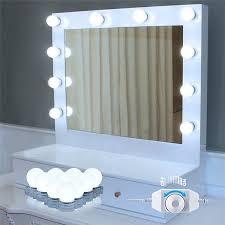 makeup mirror lighting. Hollywood Style LED Vanity Mirror Lights 10 Bulbs Kit,Lighting Fixture Strip For Makeup Lighting I