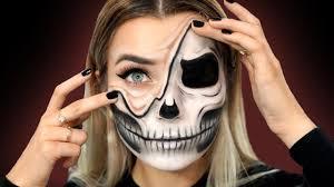 half skull ling skin makeup tutorial primark giveaway ad
