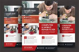 Computer Repair Flyer Template Custom Computer Repair Flyer Template Flyer Templates Creative Market Pro