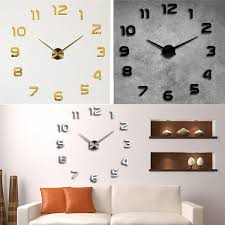 creative diy wall clock great for your bedroom living room dining room study office etc applied to any smooth and clean surfaces such as walls