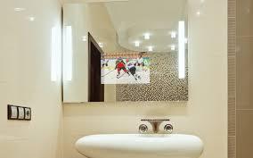 tv mirror. illuminated tv mirror tv