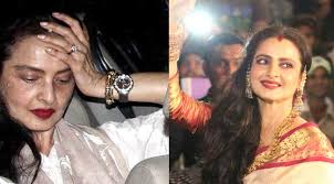 yesterday s highly por actress rekha is still known for her style but whenever she appears without makeup can t hide her age