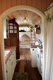 tiny house school bus. Family Converts School Bus Into Beautiful Cottage On Wheels (Video) Tiny House