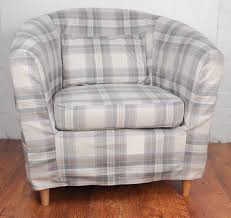 heather brown luxury tartan wool effect tullsta tub chair cover