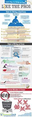 compare and contrast essay high school and college page essay yale  best ideas about essay writer creative writing 18 infographics that will teach you how to write
